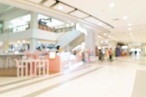 centro commerciale sfocato astratto e negozio al dettaglio per lo sfondo foto