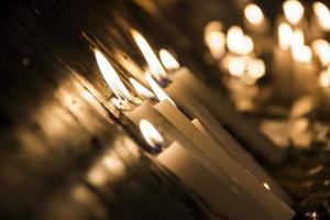 candele accese nell'aspetto nordico foto