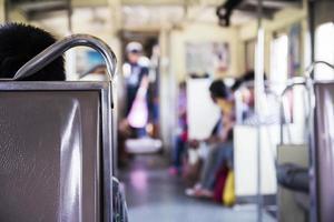 sedia in treno foto