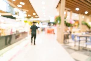 sfocatura astratta centro commerciale per lo sfondo foto