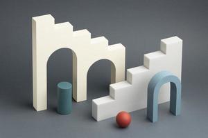 l'assortimento di elementi di design 3d astratti foto