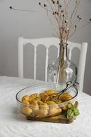 la composizione tavola del pasto sano foto