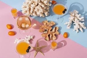 le deliziose bevande estive dall'alto foto