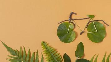 disposizione degli elementi di stile di vita sostenibile di natura morta foto