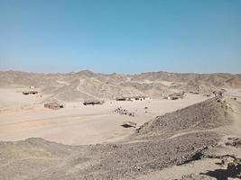 giorno nel deserto di montagna. Egitto foto