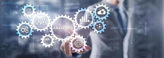 concetto di statistica di strategia di analisi dei dati di analisi foto