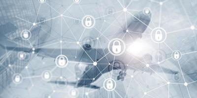 protezione dei dati aziendali. concetto di tecnologia internet aziendale di sicurezza informatica privacy foto