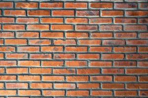 fondo di struttura impilato muro di mattoni rossi foto