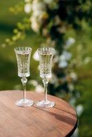 bicchieri da cocktail per vino e champagne foto