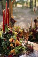 bicchieri da sposa per vino e champagne foto