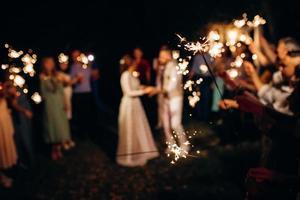 stelle filanti al matrimonio, sullo sfondo foto