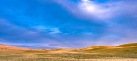 dolci colline e terreni agricoli a Palouse Washington foto