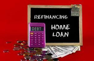 concetto di debito di prestito abitativo foto