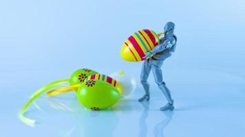 concetto di uovo di Pasqua. celebrazione o festival foto