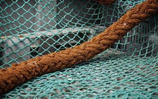 vecchie reti da pesca foto