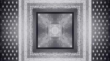 Illustrazione 3d del tunnel 4k uhd a forma di quadrato foto