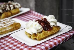 waffle tipici belgi foto