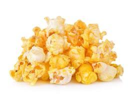 pop corn isolato su sfondo bianco foto