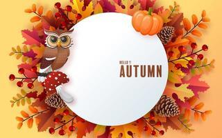 sfondo stagionale per le vacanze autunnali con foglie autunnali colorate foto