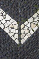 primo piano del sentiero di pietra foto