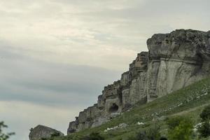 paesaggio naturale con vista sulla roccia bianca. foto