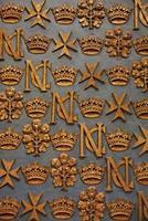 ornamenti barocchi di malta foto