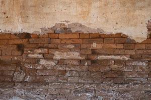vecchio, grungy, muro di mattoni, cemento, struttura, fondo foto