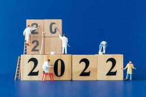 numero di pittura della squadra di lavoratori in miniatura numero 2022 foto