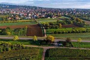 una vista drone delle colline pedemontane dei Vosgi, Francia foto
