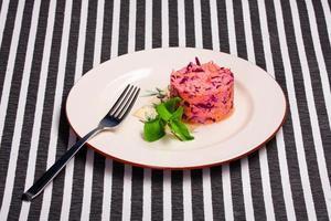 delizioso piatto vegetariano foto