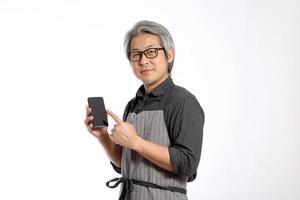 uomo asiatico anziano foto