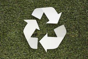 riciclare l'erba simbolo. bellissimo concetto di foto di alta qualità