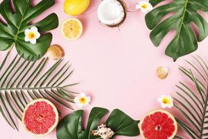 la pianta tropicale lascia i frutti. bellissimo concetto di foto di alta qualità