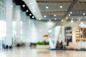 sfondo astratto della sala espositiva dell'immagine sfocata foto