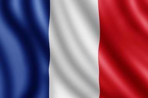 bandiera della francia, illustrazione realistica foto