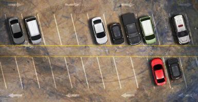 vista aerea dall'alto del parcheggio foto