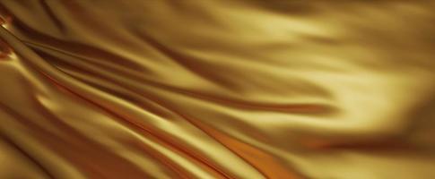 sfondo di tessuto di lusso oro 3d render foto