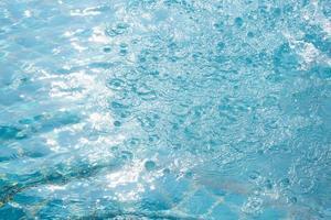 sfondo dell'acqua in piscina foto