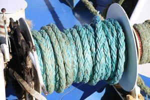 vecchia corda in primo piano foto