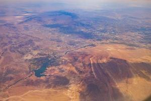 veduta aerea del lago di las vegas foto