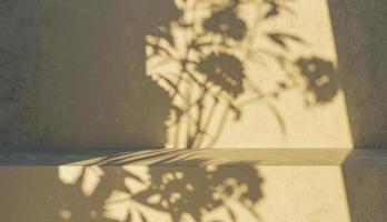sfondo del podio con ombre foto