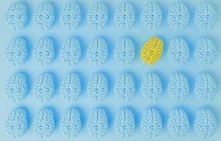 spiccare il concetto di cervello foto