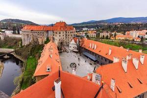 cesky krumlov, repubblica ceca, 2021 - centro storico di cesky krumlov foto