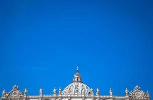 cupola della basilica di san pietro in vaticano foto