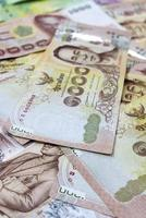 sfondo di denaro tailandese foto