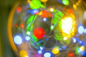 immagine led bokeh luce per sfondo astratto sfocato foto
