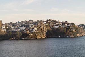 bergen dal punto di vista del monte floyen foto