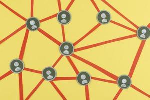 il concetto di rete ad alto angolo con filettatura foto