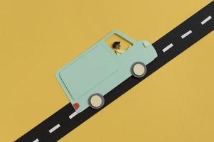 composizione in stile carta da trasporto urbano foto