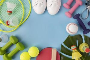 disposizione elementi sportivi stile minimal foto